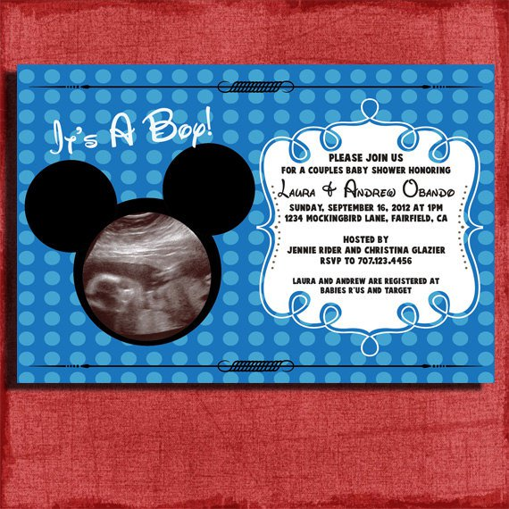 Mickey Mouse As Baby Shower