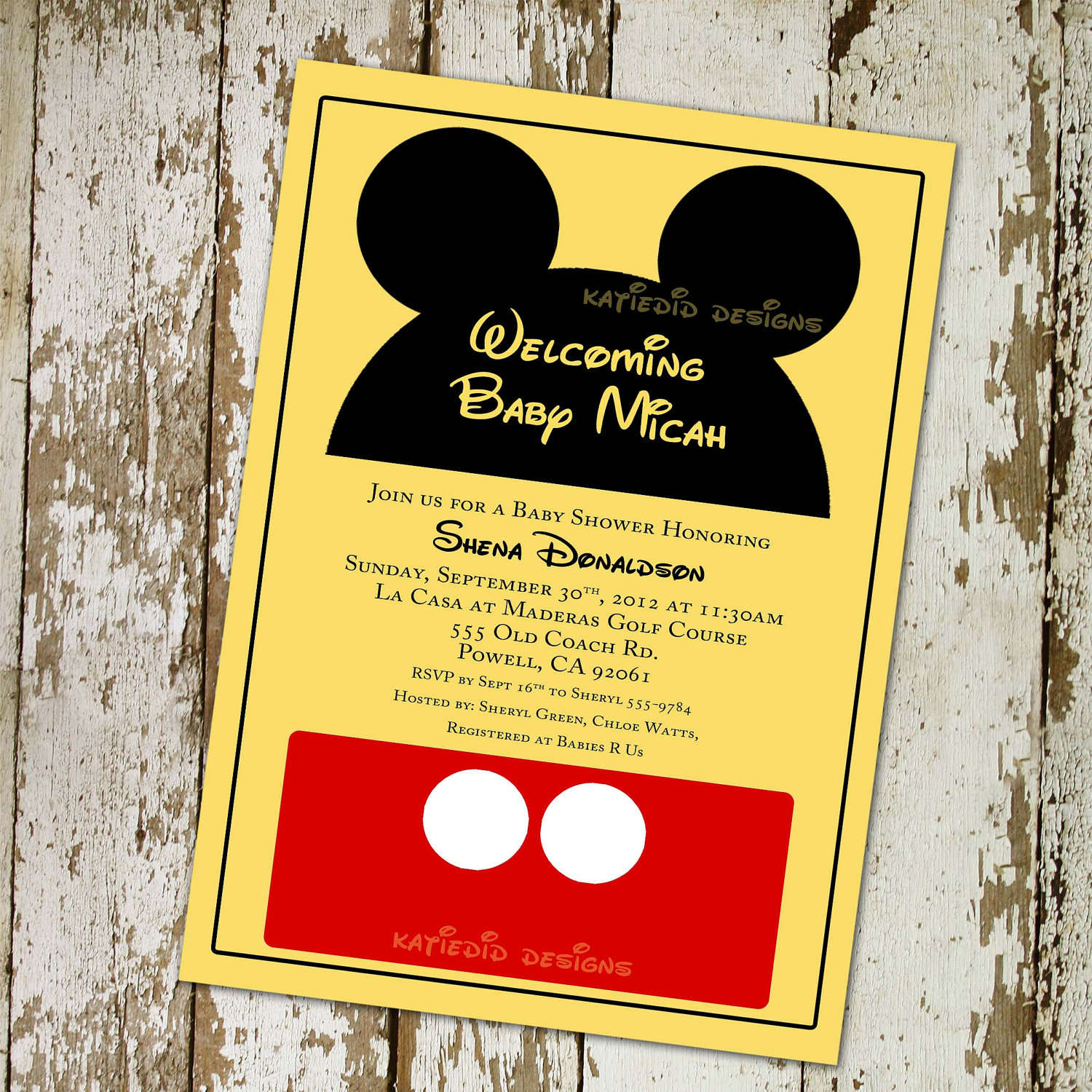 Mickey Mouse Baby Shower Invitations Printable Free