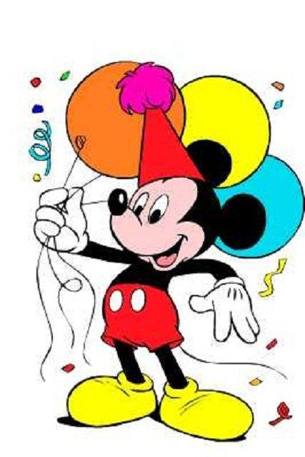 Mickey Mouse Balloons Clip Art