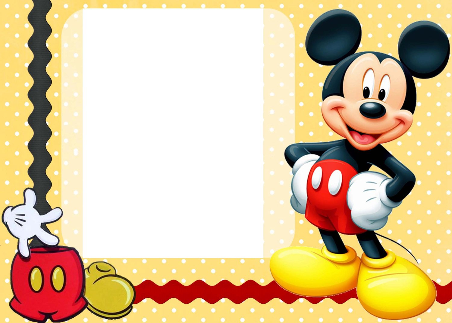 Mickey Mouse Clubhouse Blank Invitations Printable