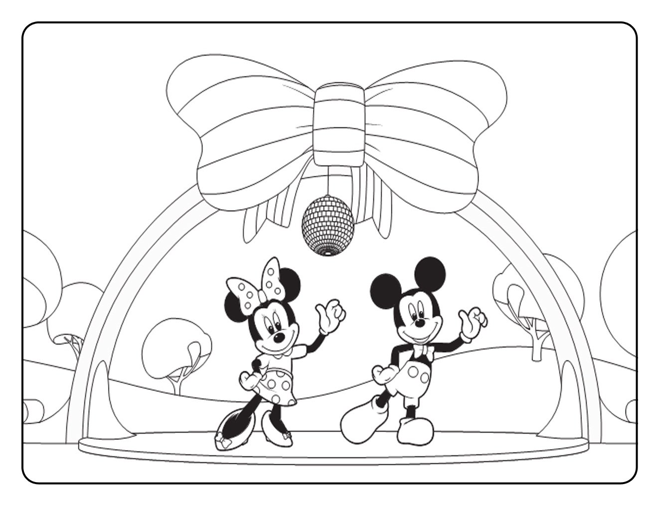 Mickey Mouse Clubhouse Coloring Pages Free Printable