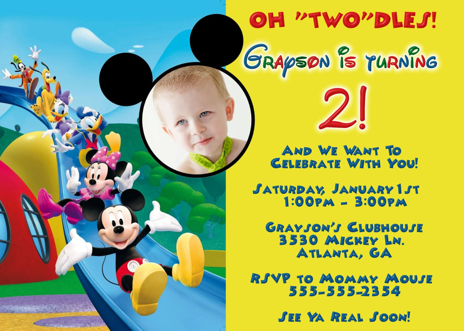 Mouse Clubhouse Invitations