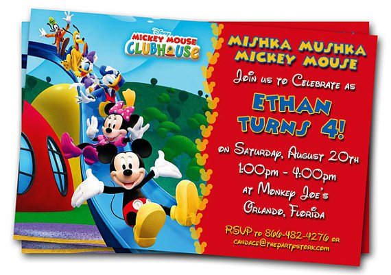Mickey Mouse Clubhouse Printable Invitations Free
