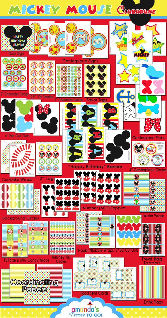 Mickey Mouse Clubhouse Printable Templates