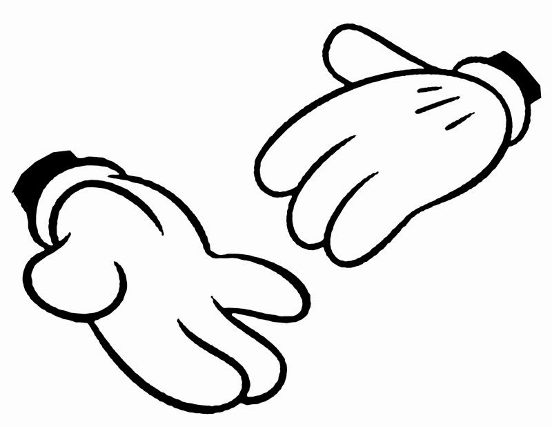 Mickey Mouse Gloves Clip Art