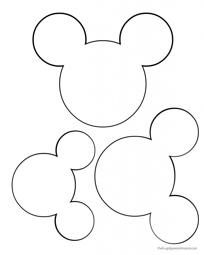 Mickey Mouse Head Silhouette Template