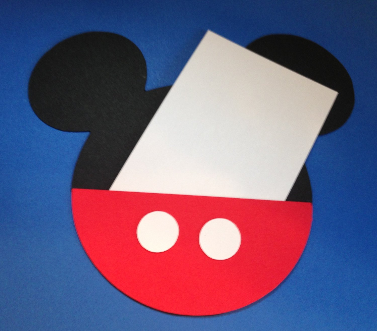 Mickey Mouse Pants Invitations