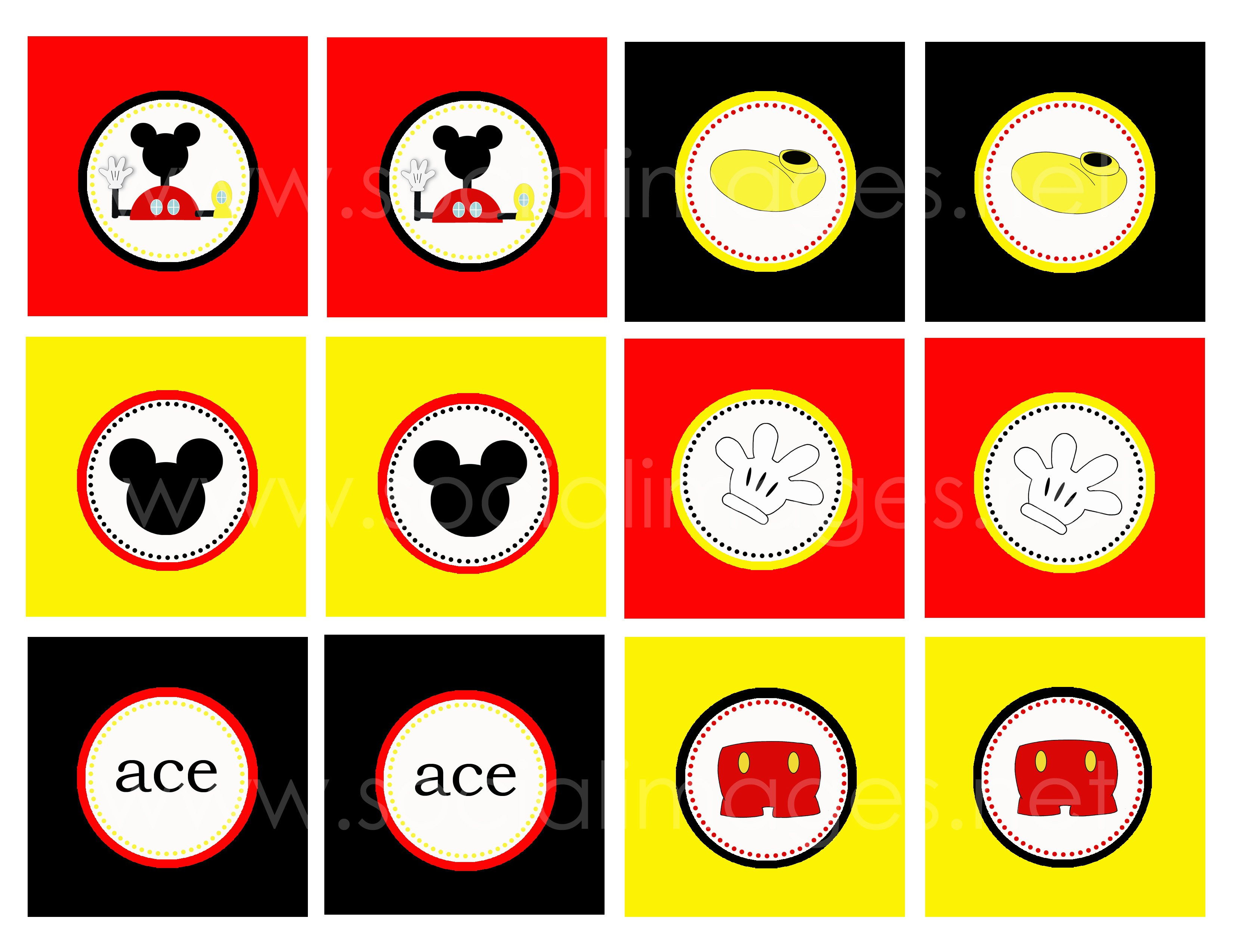 Mickey Mouse Shorts Templates