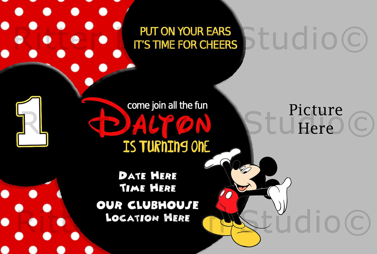 Mickey Mouse Ticket Invitations Template Free