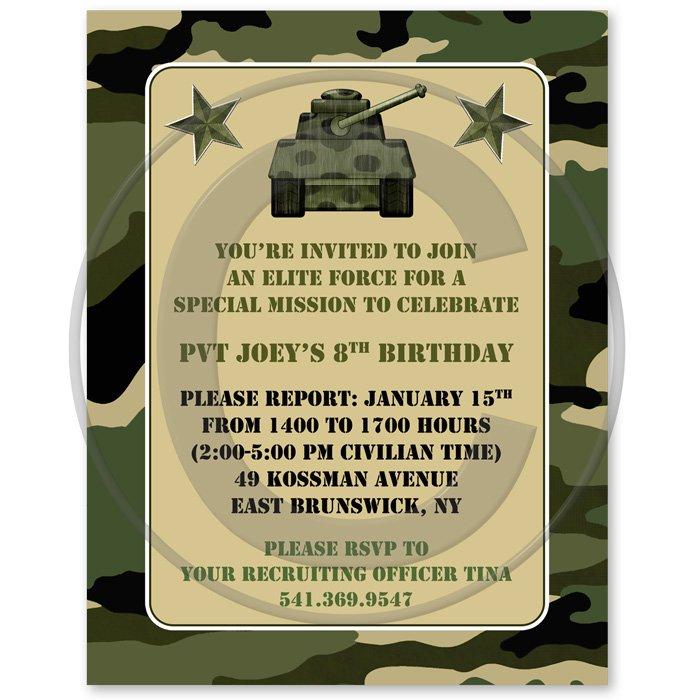 Military Birthday Invitation Wording