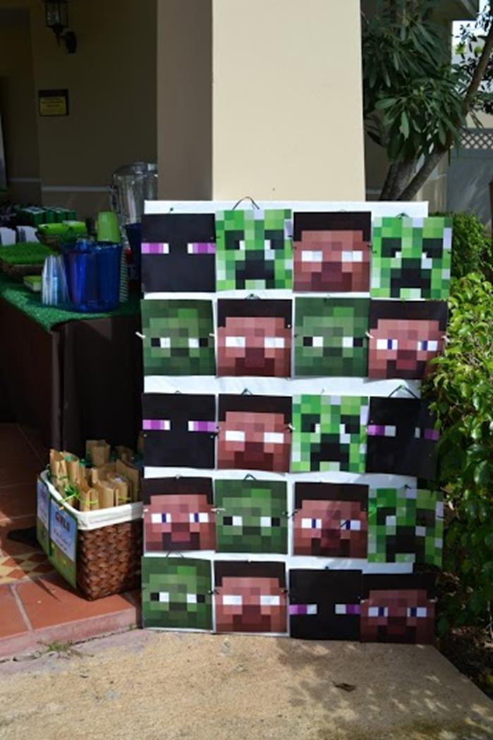 Minecraft Birthday Party Printables Supplies