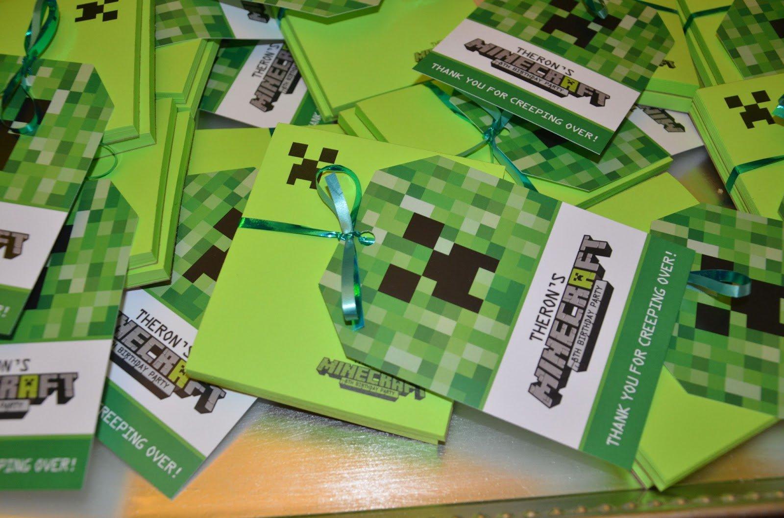 Minecraft Party Invitations Walmart