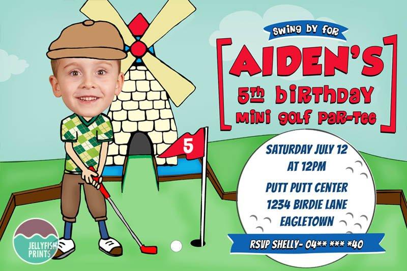 Mini Golf Party Invitations Printable