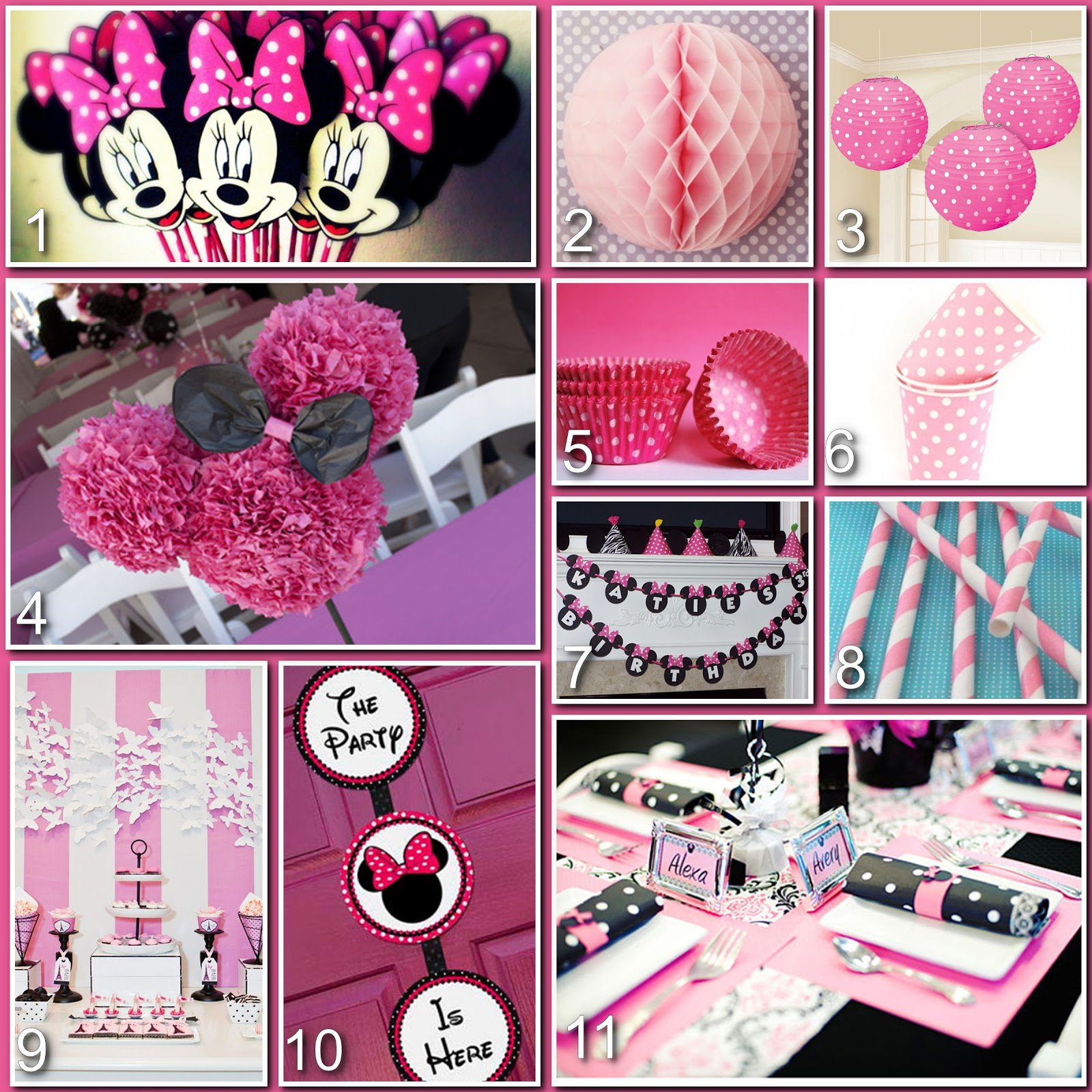 Minnie Mouse 1st Birthday Party Decoration Ideas