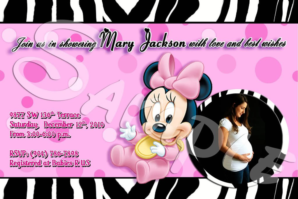 Hallmark Invitation Minnie Mouse Baby Shower – orderecigsjuice.info