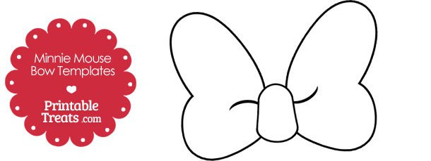 Minnie Mouse Bow Cut Out Template