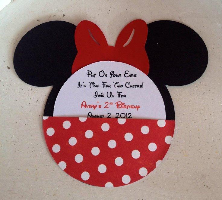 Minnie Mouse Handmade Birthday Invitations