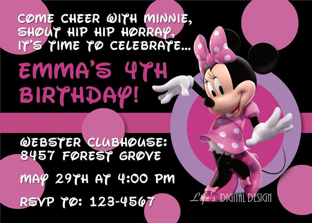 Minnie Mouse Invitation Template Printable