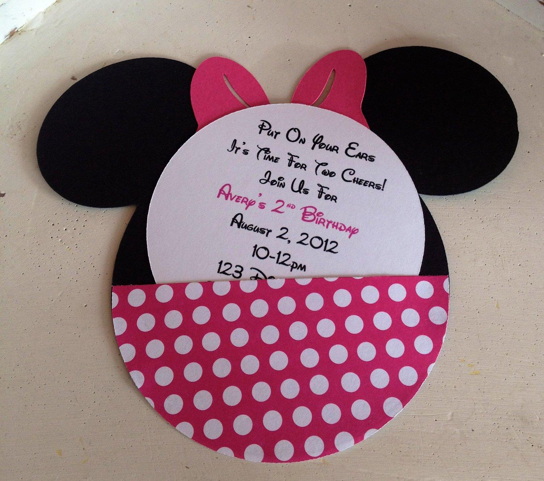 Minnie Mouse Invitation Templates Printable