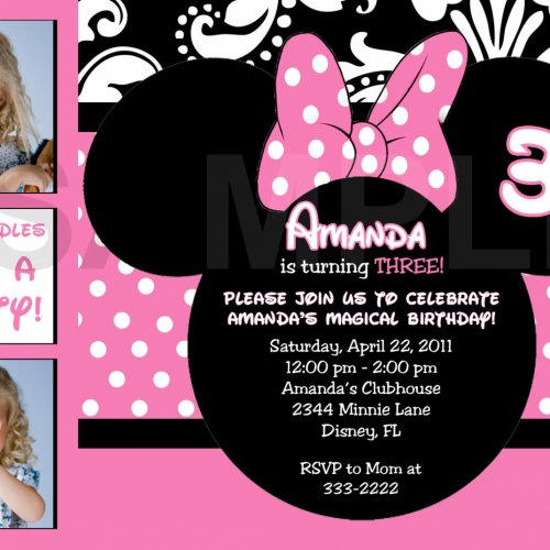 Minnie Mouse Invitations Free Downloads