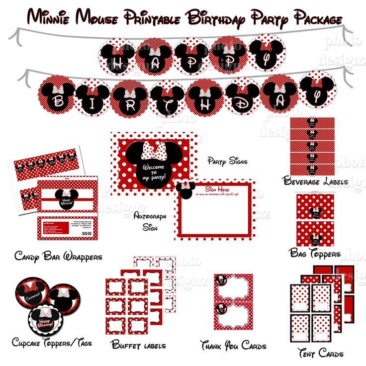 Minnie Mouse Party Printables Free