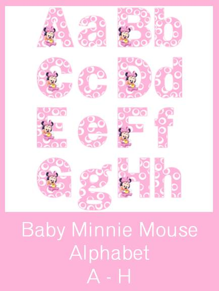 Minnie Mouse Printable Letters