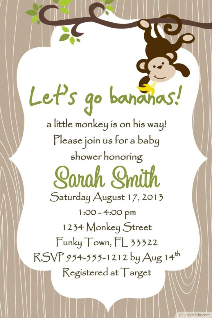 Monkey Printable Invitation Templates