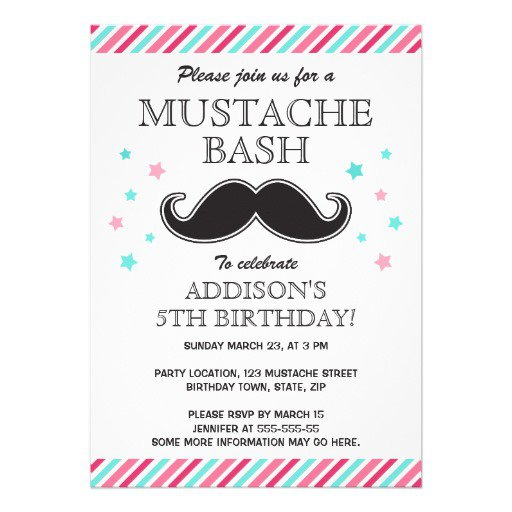 Mustache Party For Girls