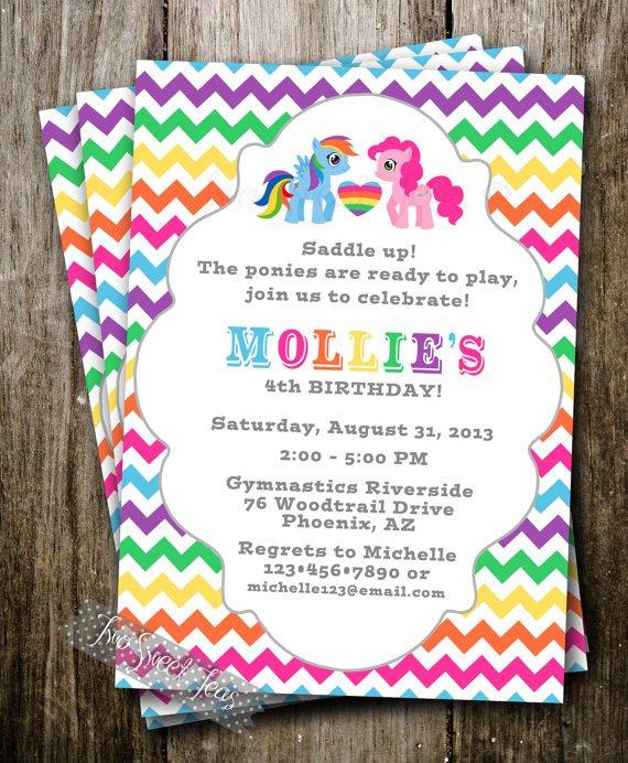 My Little Pony Blank Birthday Invitations
