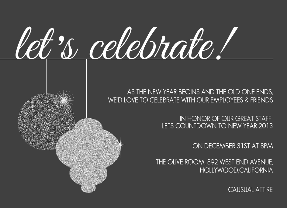 Office Christmas Party Invitation Wording