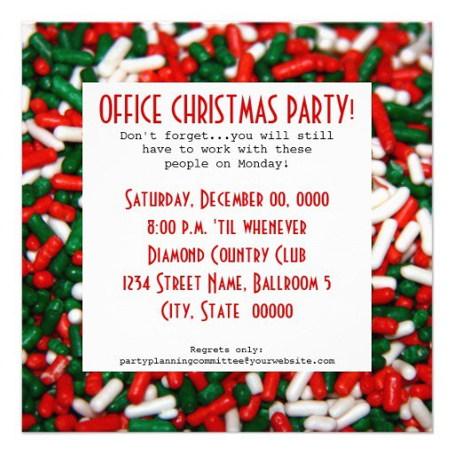 Ideas For A Work Christmas Party: Office Christmas Party Invitations