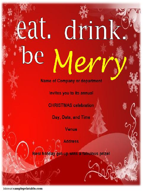 Office R Nchristmas Party Invitation Templates