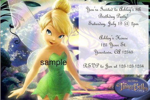 Online Printable Tinkerbell Invitations