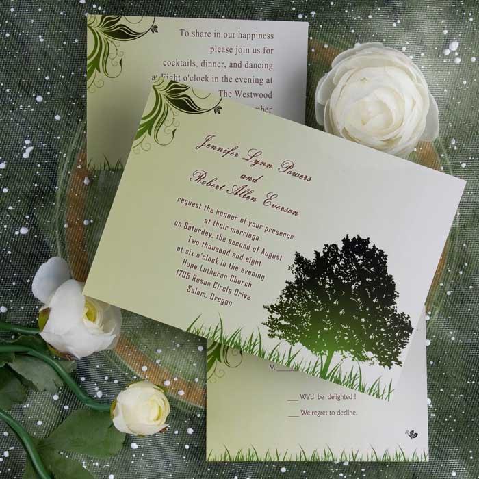 Outdoor Wedding Invitations