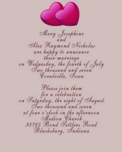 Outdoor Wedding Invitations Wording