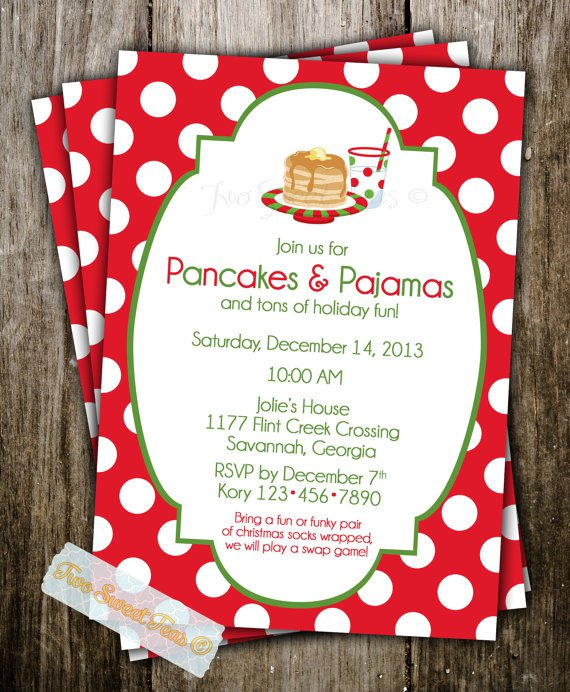 Pajama Party Invitations For Adults