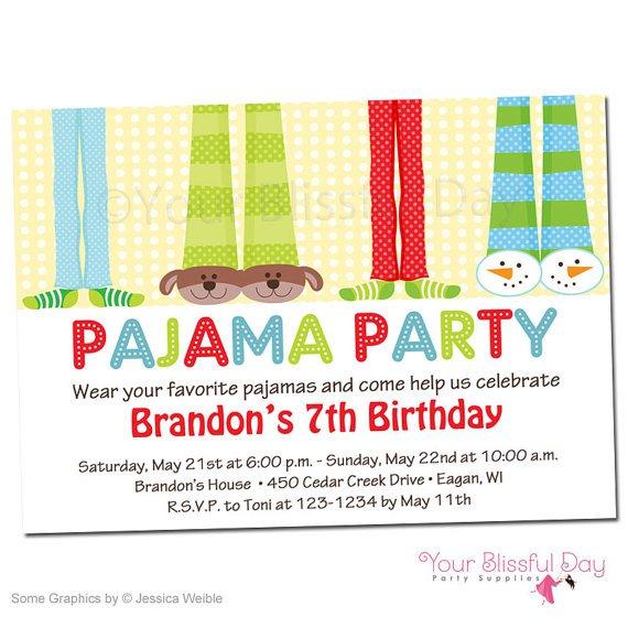 Pajama Party Invitations – Pajama Party Invitations Free