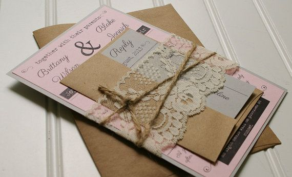 Paper Bag Wedding Invitations