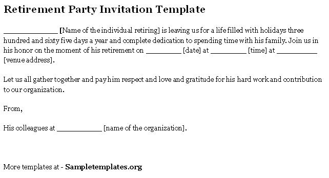 Invitation to retirement party template fieldstation invitation to retirement party template stopboris Gallery