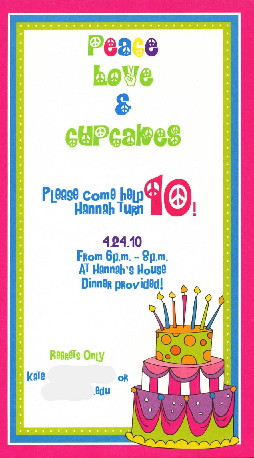 Peace Sign Birthday Invitation Templates