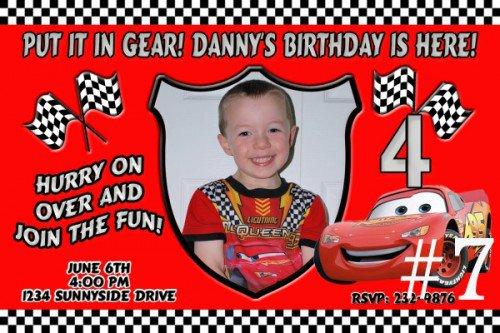 Personalized Disney Cars Birthday Invitations