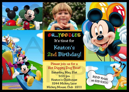 Personalized Mickey Mouse Clubhouse Invitations