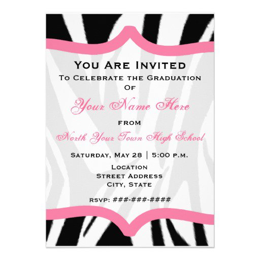 Pink Animal Print Invitations