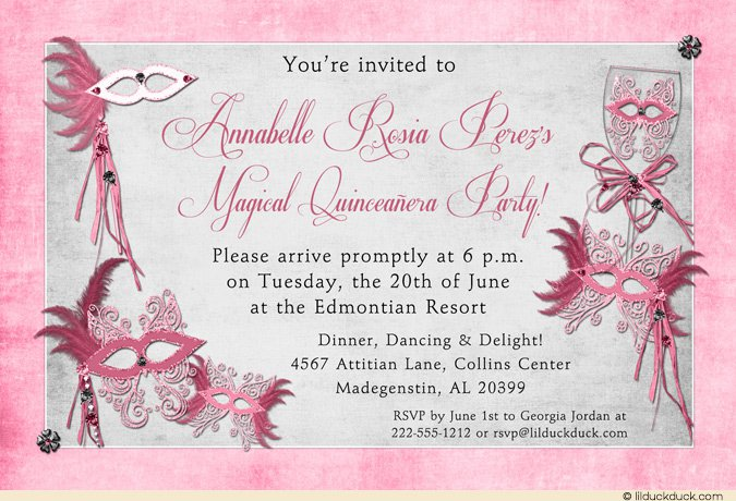 Pink Flower Quince Invitations