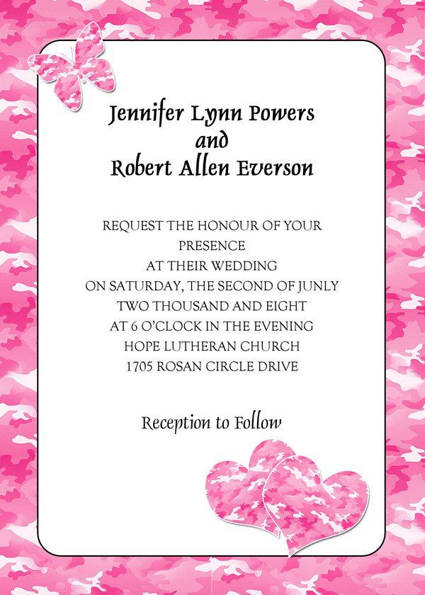 Pink Invitations Wedding