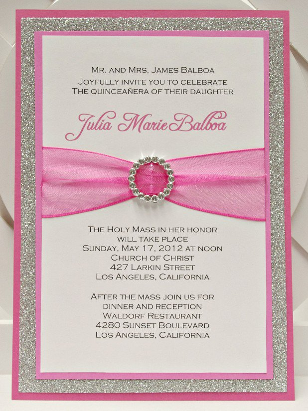 Pink Quince Invitations Ideas
