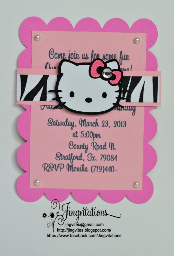 Pink Zebra Birthday Invitations