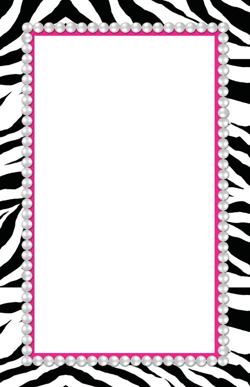 Pink Zebra Blank Invitations Printable