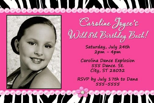 Pink Zebra Invitations Printable