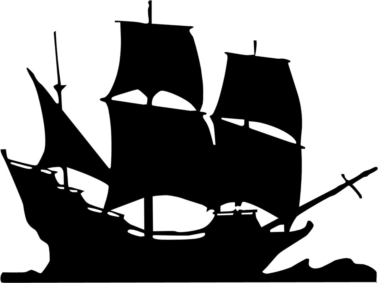 Pirate Ship Clip Art Black And White
